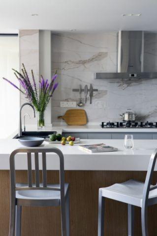 厨房吧台现代简约风格装饰效果图