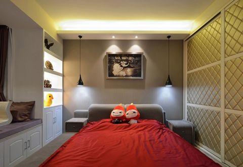 卧室博古架简约风格装潢图片