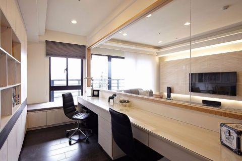 书房书桌简约风格装修设计图片