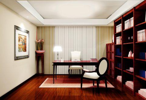 书房博古架中式风格装饰效果图