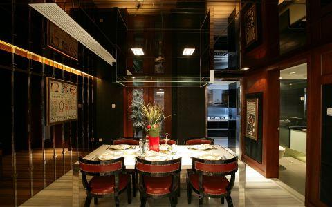餐厅背景墙欧式风格装修设计图片