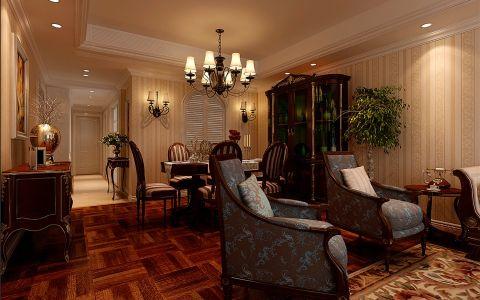 餐厅走廊美式风格装修设计图片