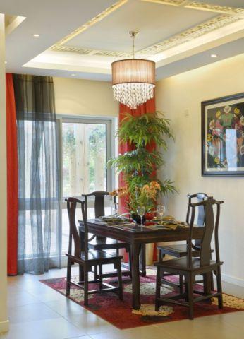 餐厅吊顶新中式风格装潢效果图