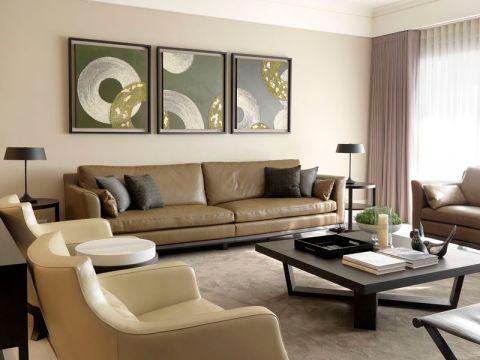 现代简约风格130平米三房两厅新房装修效果图