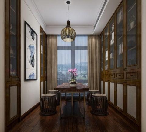 书房窗帘现代中式风格装修图片