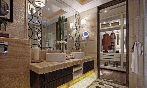 卫生间洗漱台中式风格装饰效果图