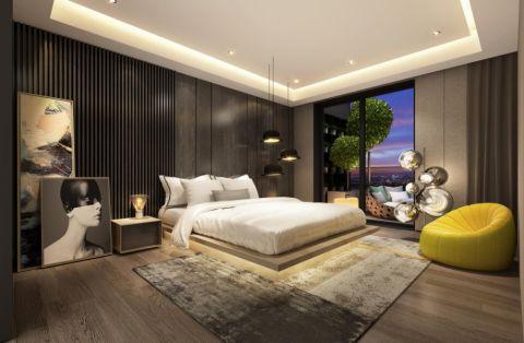 卧室窗帘后现代风格装饰设计图片