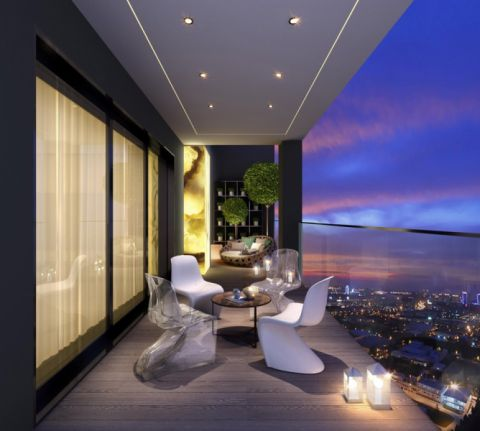 阳台推拉门后现代风格装潢设计图片