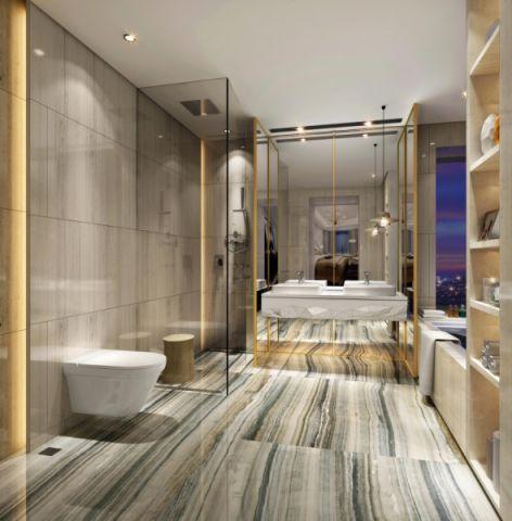 卫生间背景墙后现代风格效果图