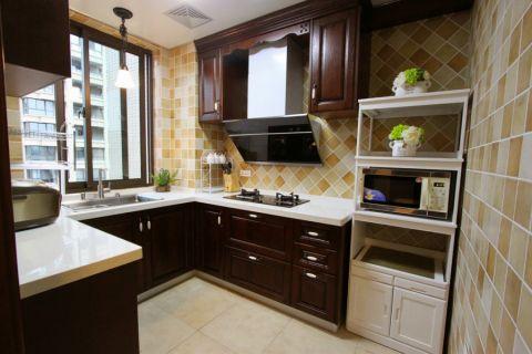 厨房背景墙新古典风格装修设计图片