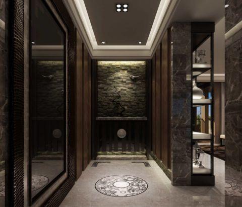 玄关背景墙现代简约风格装潢设计图片