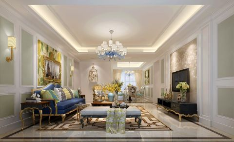 16万预算140平米四室两厅装修效果图