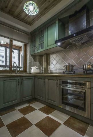厨房吊顶简欧风格装潢图片
