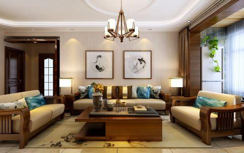4万预算135平米三室两厅装修效果图