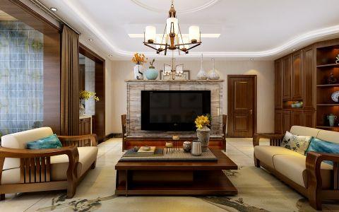 客厅吊顶简中风格装修设计图片