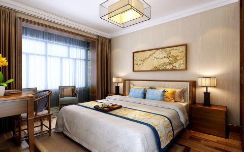 卧室吊顶简中风格装修效果图