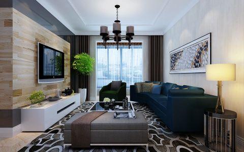 3万预算113平米两室两厅装修效果图