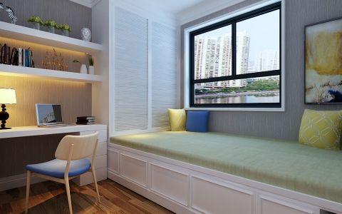 卧室书桌现代简约风格装饰效果图