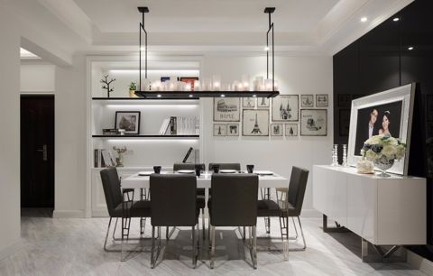 餐厅照片墙现代简约风格效果图