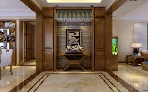 玄关背景墙新中式风格装潢图片