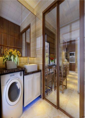 卫生间推拉门新中式风格装饰效果图
