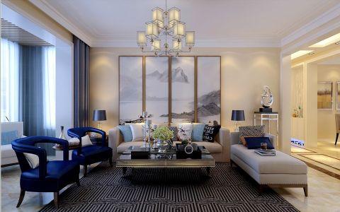 4.5万预算120平米三室两厅装修效果图