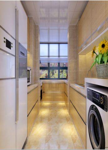 厨房地砖新中式风格效果图