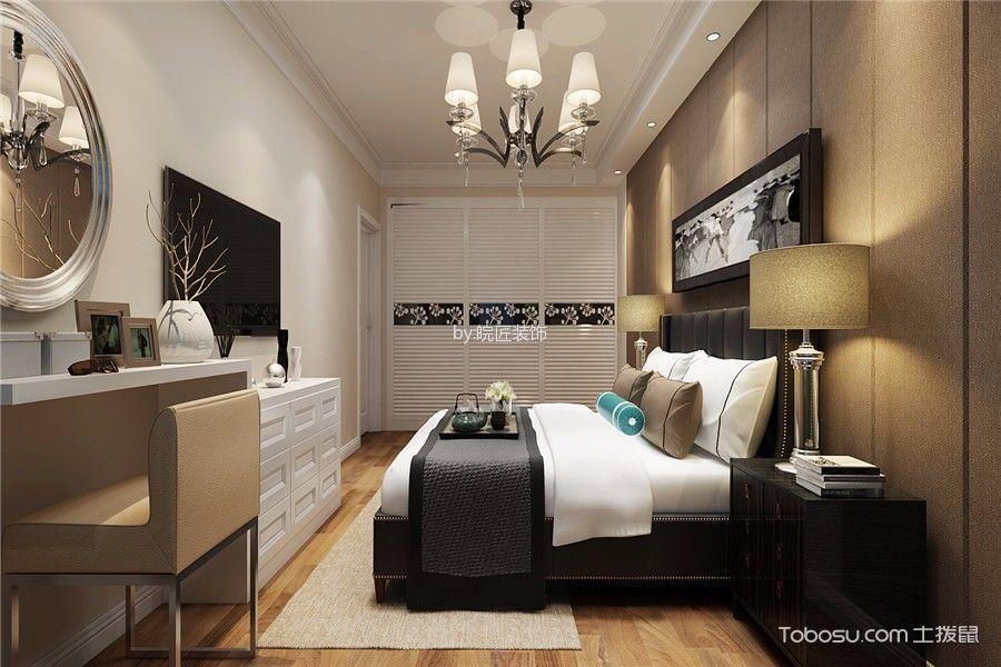 卧室白色梳妆台简欧风格装修效果图