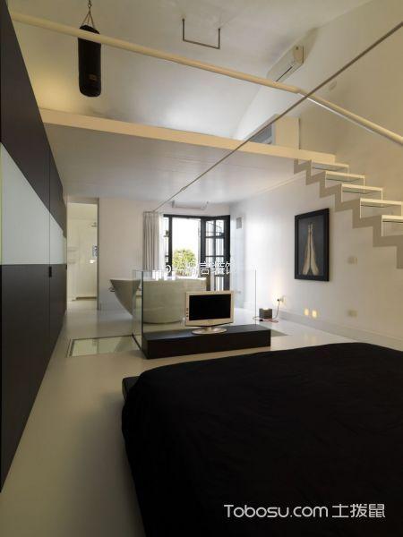 卧室咖啡色电视柜现代简约风格装潢设计图片