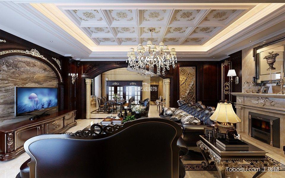 客厅 灯具_古典风格400平米别墅房子装饰效果图