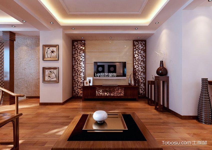 客厅 背景墙_13万预算120平米三室两厅装修效果图