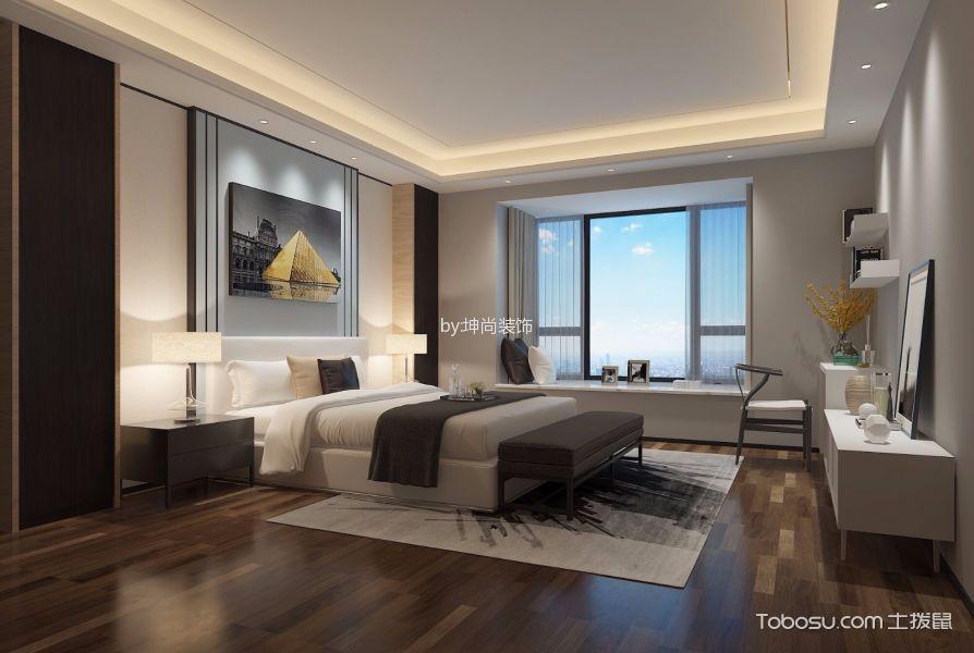 卧室白色飘窗新中式风格装修图片