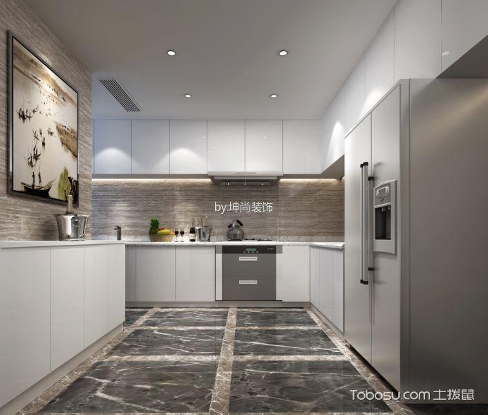 厨房 橱柜_30万预算300平米别墅装修效果图