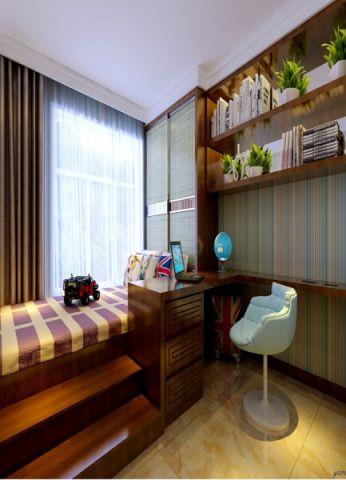 卧室书桌新中式风格装饰图片