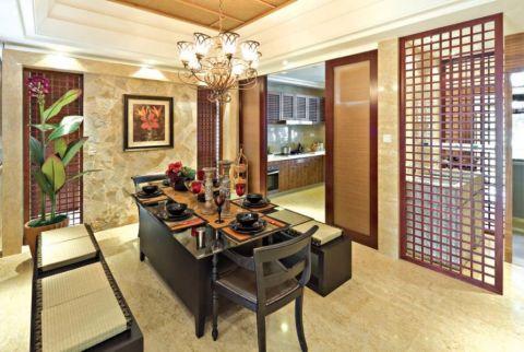 餐厅照片墙东南亚风格装潢图片