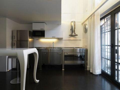 厨房推拉门现代简约风格装潢图片