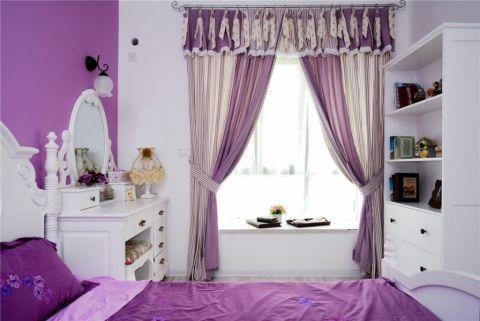 卧室白色梳妆台混搭风格装修图片