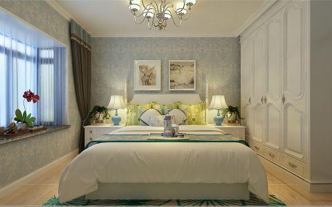 卧室白色衣柜田园风格装潢设计图片