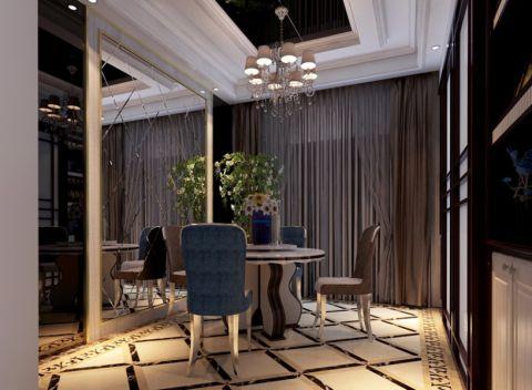 餐厅窗帘美式风格装潢图片