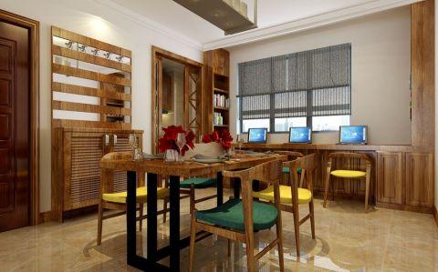 餐厅吧台中式风格装修图片