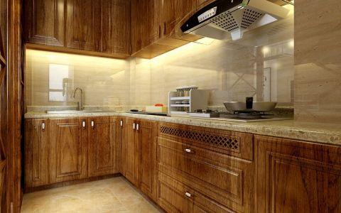 厨房背景墙中式风格装修设计图片