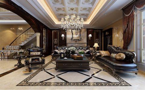 客厅吊顶古典风格装修设计图片