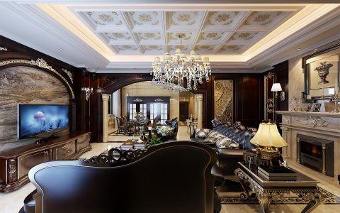 客厅吊顶古典风格装潢设计图片