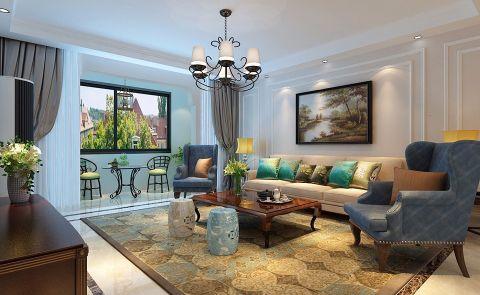 美式风格220平米大户型房子装饰效果图