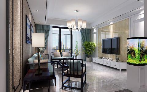 4.8万预算120平米三室两厅装修效果图