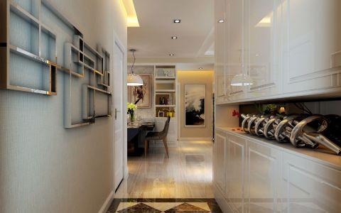 玄关白色走廊现代简约风格装饰设计图片