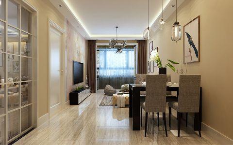 3.4万预算116平米两室两厅装修效果图