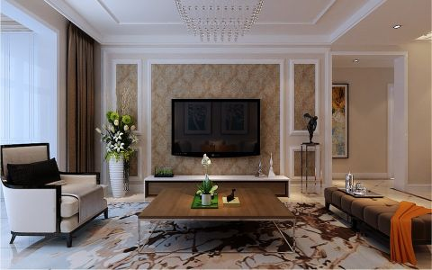 3.9万预算130平米三室两厅装修效果图