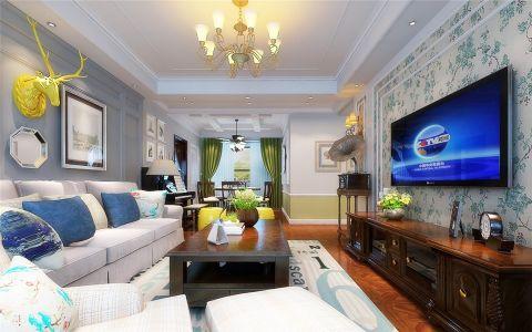 客厅电视柜美式风格效果图