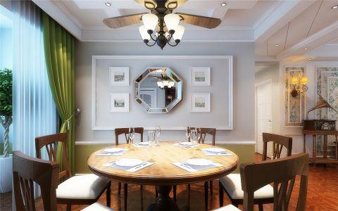 餐厅背景墙美式风格装修效果图